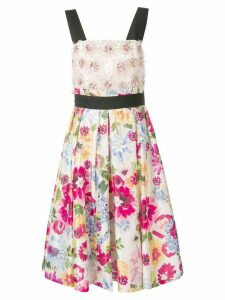 Escada floral-print dress - White