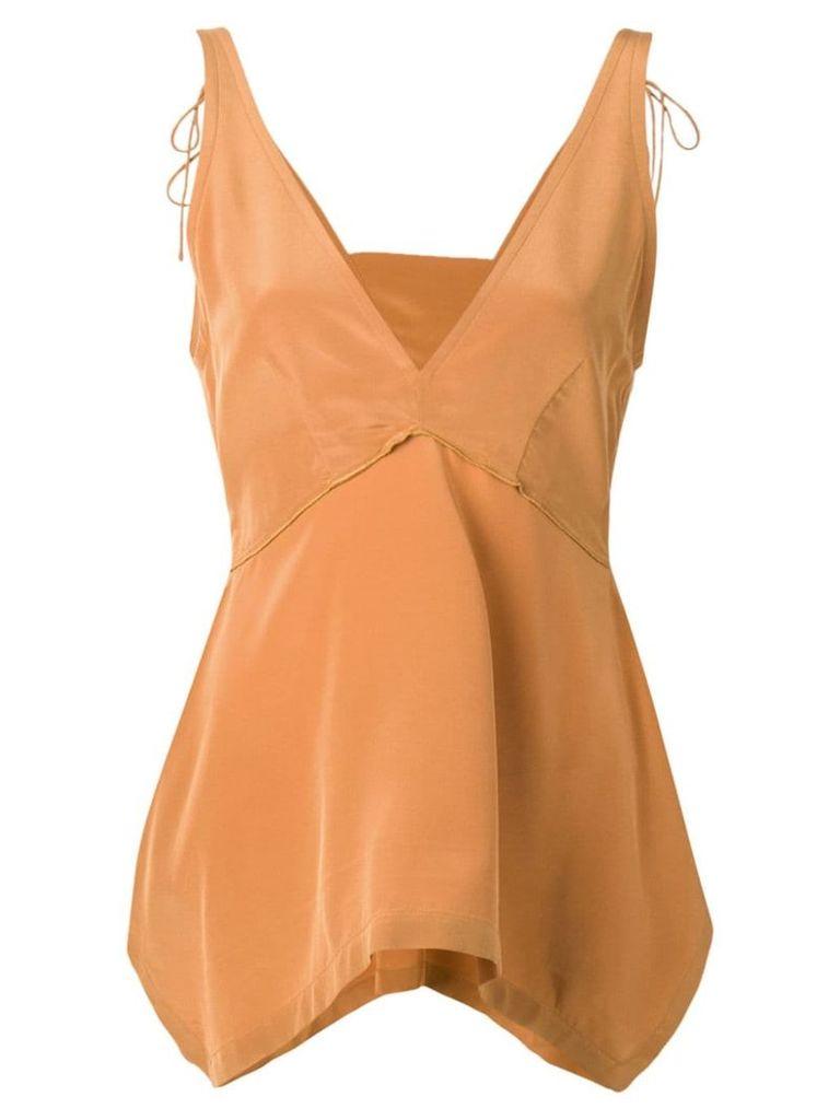 Dorothee Schumacher asymmetric sleeveless top - Brown