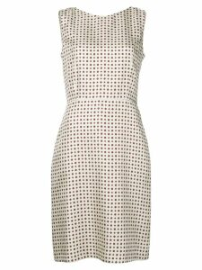 Alberto Biani dotted print dress - Neutrals