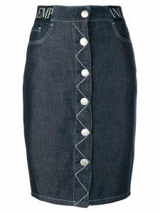 Emporio Armani five pocket design denim skirt - Blue