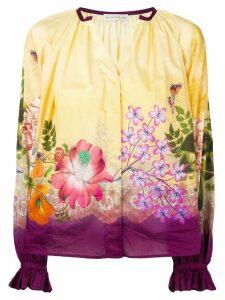 Etro floral print blouse - Yellow