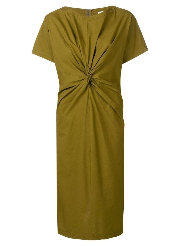 Erika Cavallini T-shirt dress with a front knot - Green
