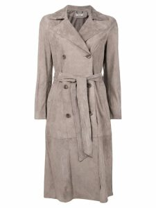 Desa Collection belted coat - Grey
