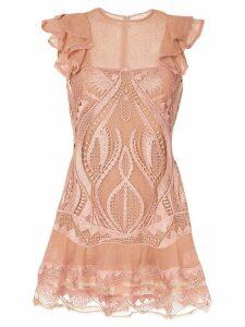 Jonathan Simkhai embroidered mini dress - Brown