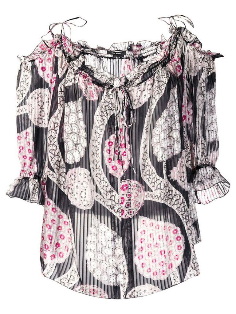 Isabel Marant pleated peasant blouse - Black