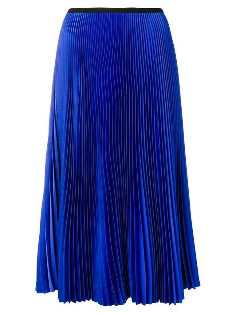 Blanca pleated straight skirt - Blue