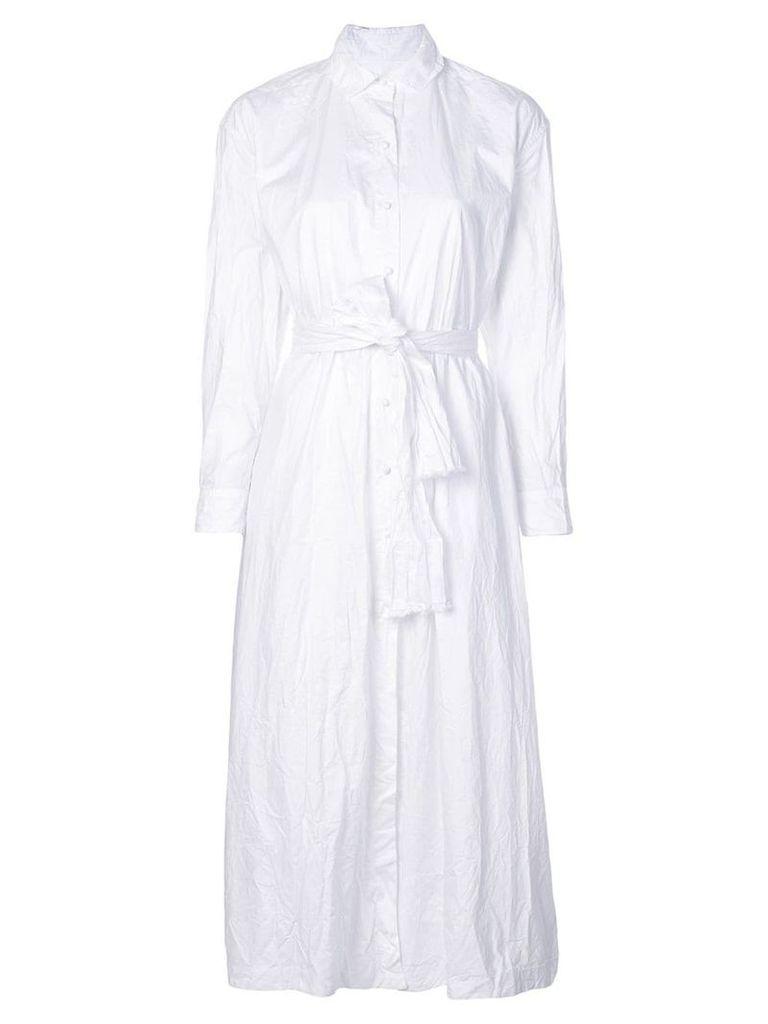 Daniela Gregis belted shirt dress - White