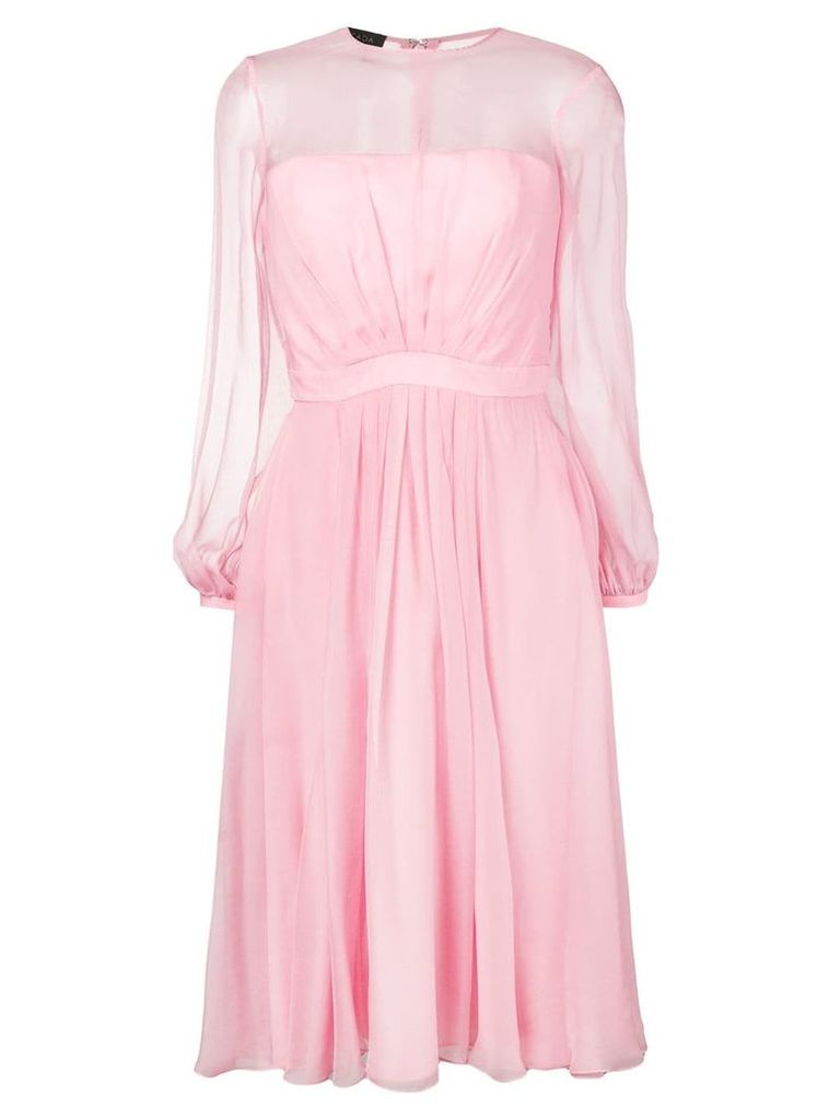 Escada gathered front dress - Pink