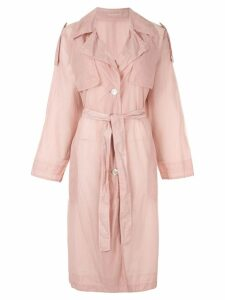 Blueflag + Kiminori Morishita single-breasted trench coat - Pink