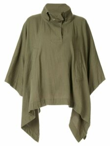 Blueflag + Kiminori Morishita draped poncho jacket - Green