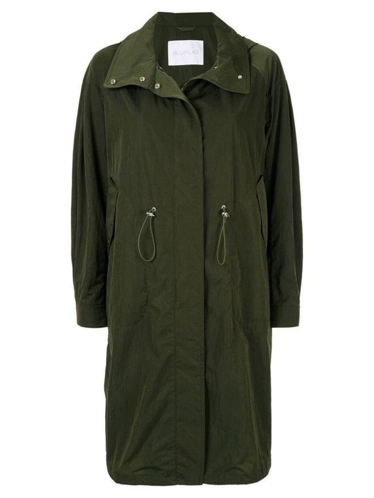 Blueflag + Kiminori Morishita hooded parka coat - Green