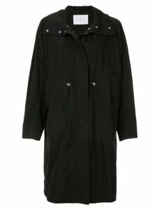 Blueflag + Kiminori Morishita hooded parka coat - Black