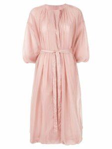 Blueflag + Kiminori Morishita short-sleeve parka coat - Pink