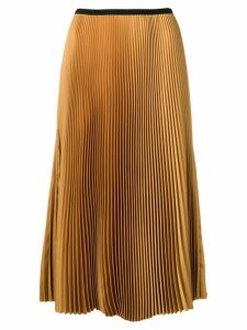 Blanca pleated straight skirt - Neutrals