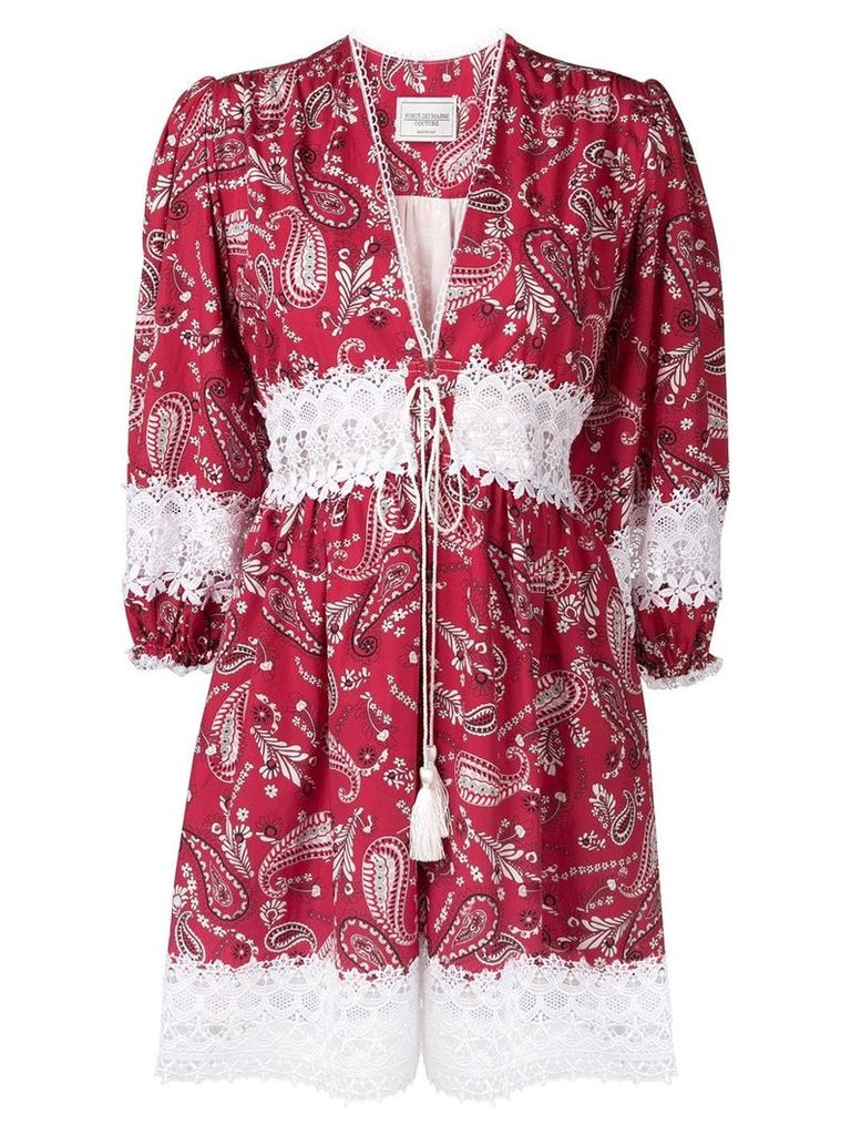 Forte Dei Marmi Couture paisley print dress - Red