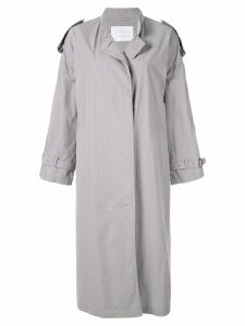 Blueflag + Kiminori Morishita belted trench coat - Grey