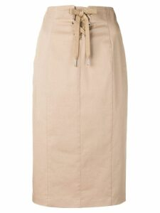 Red Valentino lace-up front skirt - Neutrals