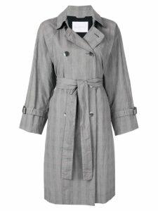 Blueflag + Kiminori Morishita belted trench coat - Grey