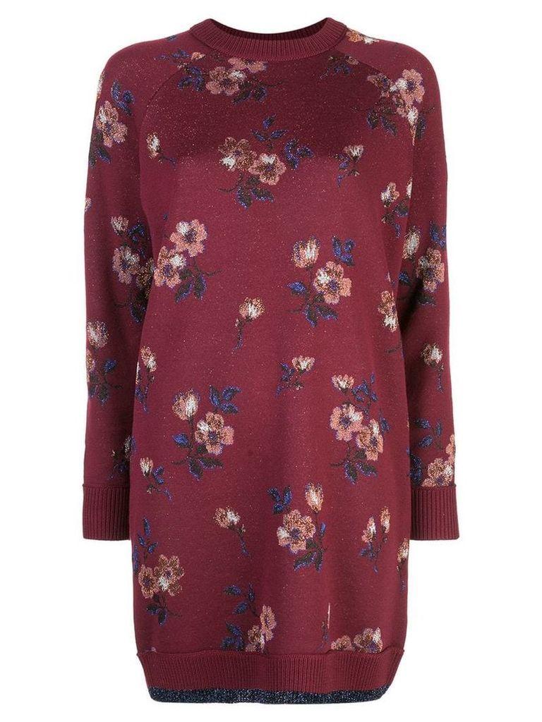 Coach flower jacquard dress - Red