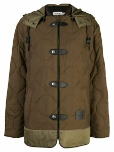 Coach quilted military coat - Green