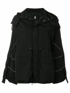 As65 crystal-embellished parka - Black