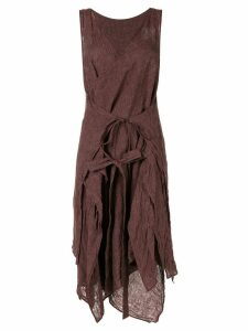 Forme D'expression layered apron dress - Brown