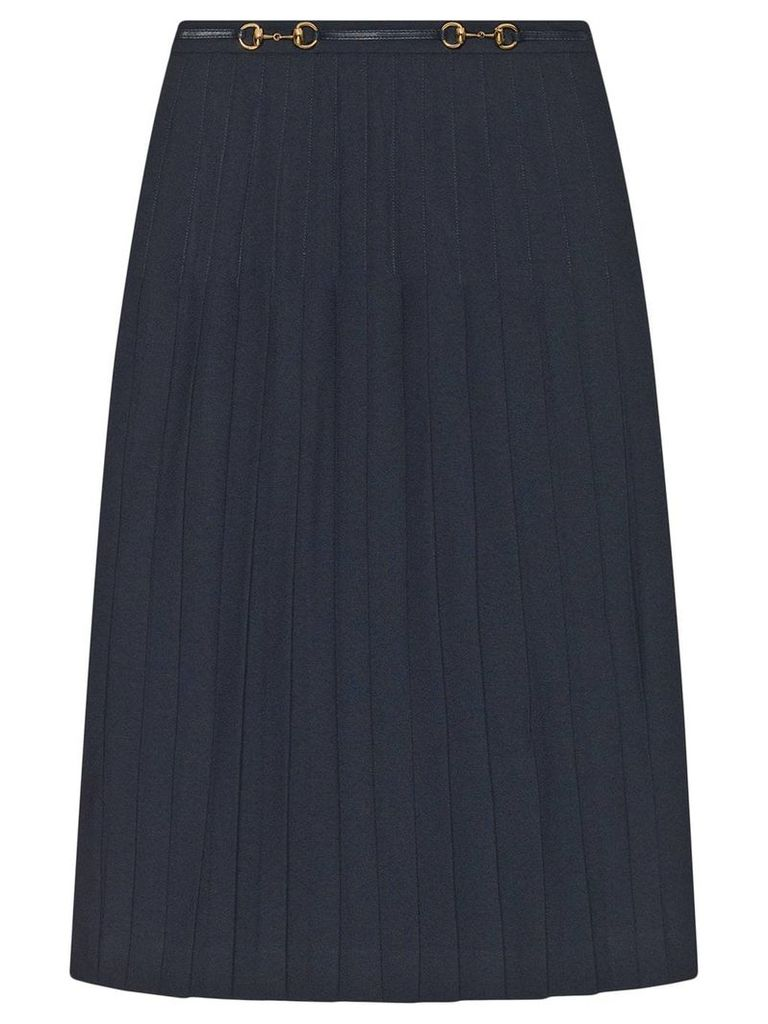 Gucci Pleated wool skirt - Blue
