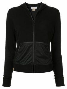 Monreal London velvet hoodie - Black