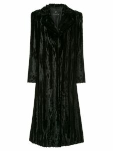 Unreal Fur Velvet Underground Coat - Black