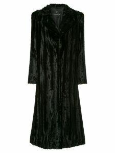 Unreal Fur Velvet Underground Coat - Black