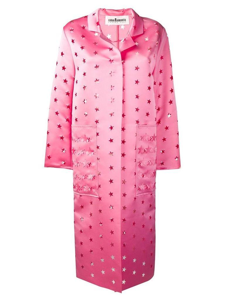 Caban Romantic cut out stars coat - Pink