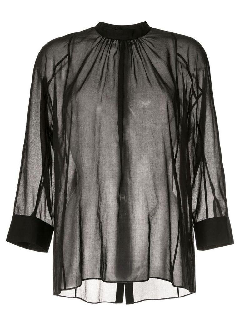 Des Prés sheer shirt - Black