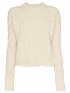 Rejina Pyo wool yak-cashmere blend cable knit sweater - White