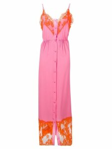 MSGM buttoned lace dress - Pink
