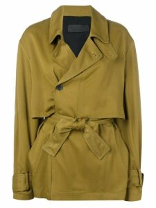 Haider Ackermann tie waist trench coat - Green