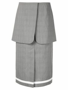Irene layered midi skirt - Grey