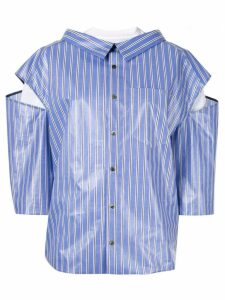 Irene striped layered shirt - Blue