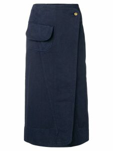 Henrik Vibskov Coco wrap denim skirt - Blue