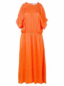 MSGM cold-shoulder midi dress - Orange