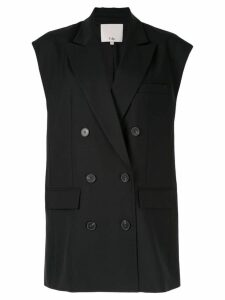 Tibi structured waistcoat - Black