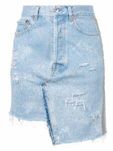 Forte Dei Marmi Couture ripped denim skirt - Blue