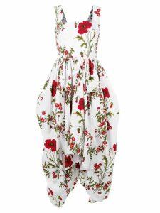 Alexander McQueen poppyfield poplin dress - White