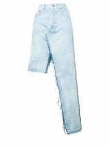 Forte Dei Marmi Couture ripped detail skirt - Blue