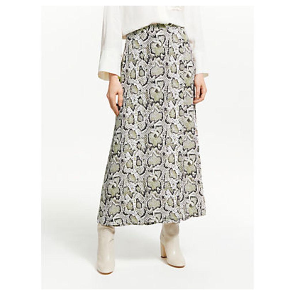 Finery Rose Snake Print Skirt, Multi