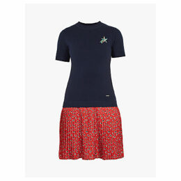 Ted Baker Colour By Numbers Gememma Woven Knit Floral Dress, Navy
