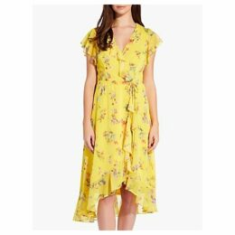 Adrianna Papell Sunny Corsage Dress, Yellow/Multi