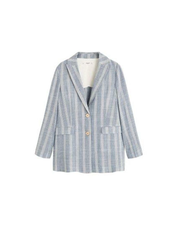 Striped structured blazer