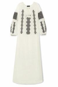 Nili Lotan - Valenza Embroidered Cotton-voile Maxi Dress - White