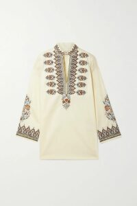 Moschino - Shirred Leopard-print Chiffon Mini Dress - Leopard print