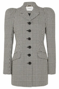 Erdem - Alfreda Prince Of Wales Checked Cotton-blend Blazer - Black